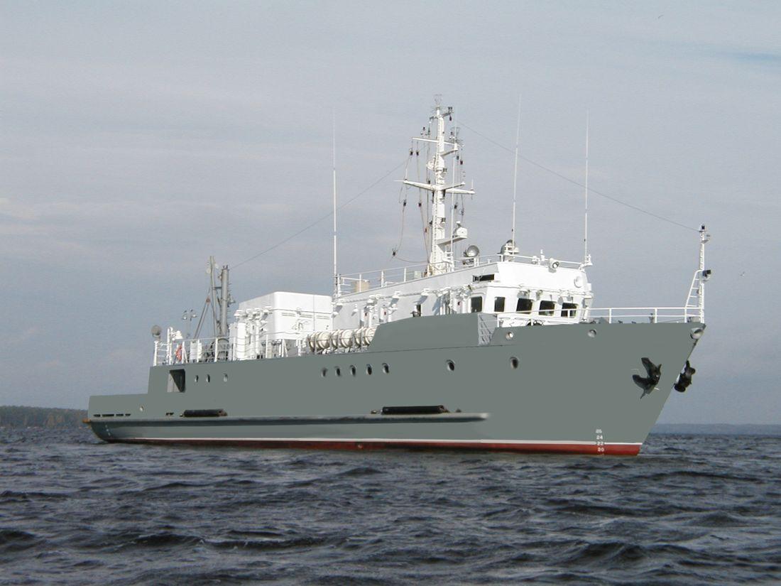 Морское водолазное судно ВМ-596 проект 11980